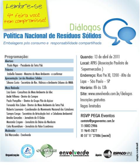 Diálogos da Política Nacional de Resíduos Sólidos