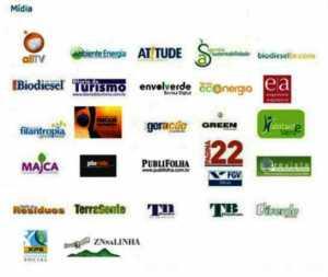 Apoio de Mída da Habitante Verde