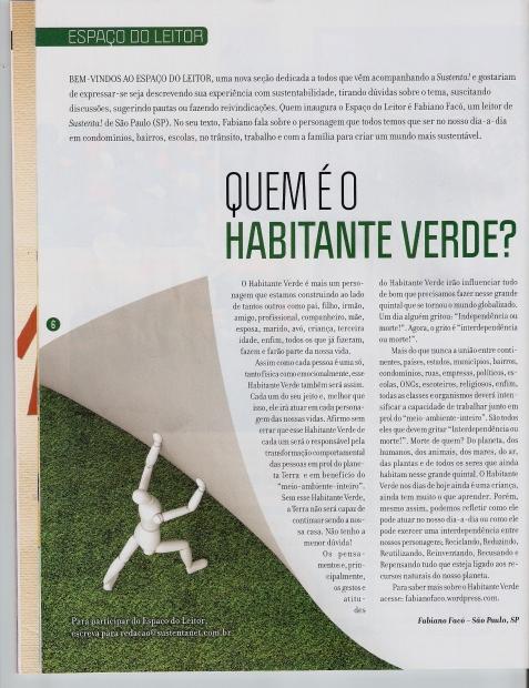 Habitante Verde na Revista Sustenta