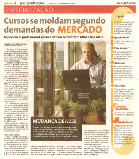 Guia de Pós-Graduação da Folha de São Paulo - Jan/2010